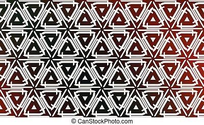 decorativo, pastello, linea., pendenza, moderno, illustrazione, fondo., vettore, triangoli, colorare, design.