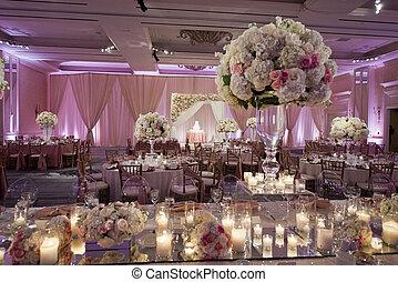 decorato, beautifully, sala ballo, matrimonio