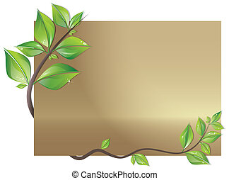 decorato, foglie, scheda