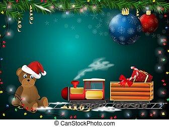 decorazione, anno, nuovo, cartelle, disegno, prodotti, regali, vacanza natale, fondo, 1