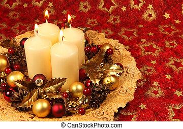 decorazione, candele, natale