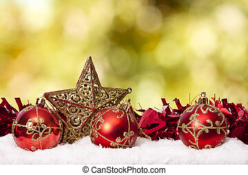 decorazione, fondi, tradizionale, natale, vacanze