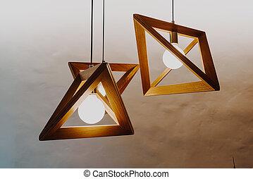 decorazione, lampada appende, parete
