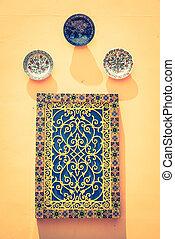 decorazione, marocco, parete