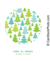 decorazione, modello, albero, fondo, cerchio, vacanza, natale