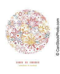 decorazione, motivi dello sfondo, stelle, textured, cerchio, natale