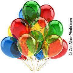 decorazione, multicolor, palloni