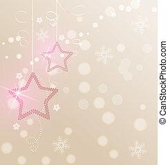 decorazione, natale, stelle