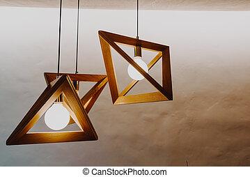 decorazione, parete, lampada, appendere