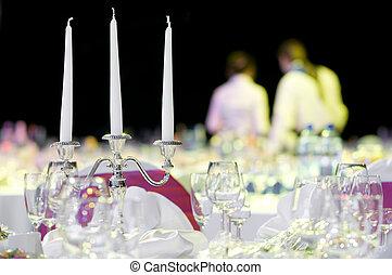 decorazione, servizio tavola, ristorazione