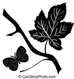 decorazione, silhouette