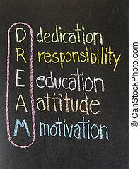 dedica, atteggiamento, educazione, responsabilità, motivazione