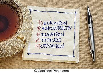 dedica, educazione, responsabilità