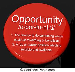definizione, carriera, bottone, possibilità, caso, posizione, opportunità, o, mostra