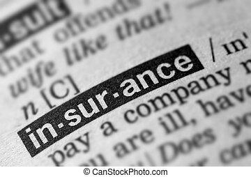 definizione, parola, assicurazione, testo