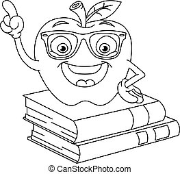 delineato, mela, far male