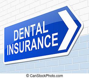 dentale, concept., assicurazione