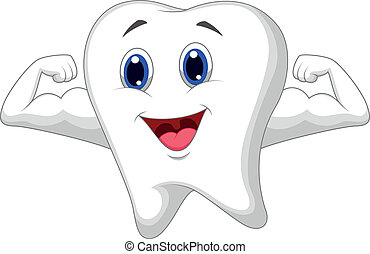 dente, cartone animato, forte