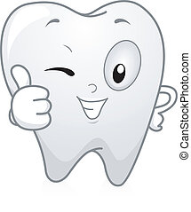 dente, su, pollici