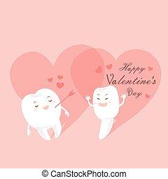 denti, cartone animato, giorno, valentina