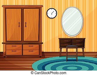 dentro, stanza