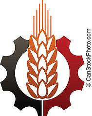 descrivere, agricoltura, industria, icona