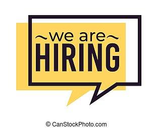 desiderato, icona, web, assunzione, reclutamento, isolato, lavoro
