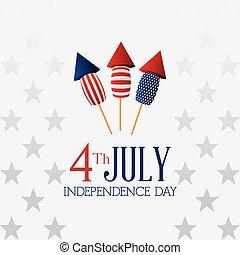 design., giorno, scheda, indipendenza