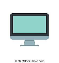 desktop, isolato, icona, monitor, computer
