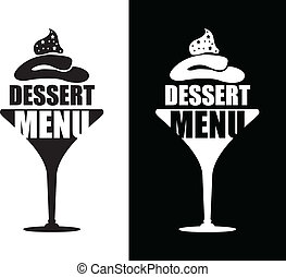 dessert, fondo, menu