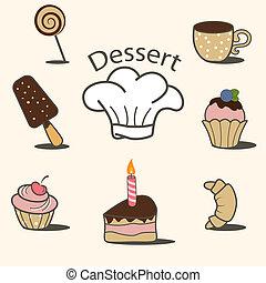dessert, icone