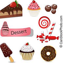 dessert, set