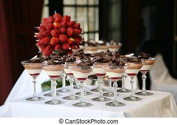 dessert, tavola, ricezione, matrimonio
