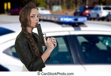detective, femmina