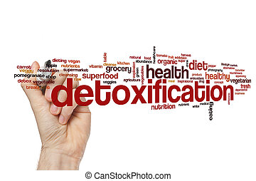 detoxification, parola, nuvola