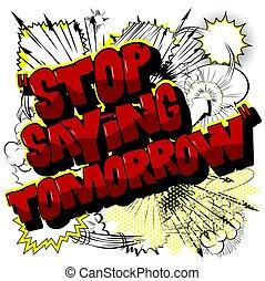 detto, poster., -, motivazionale, fermata, fondo, domani