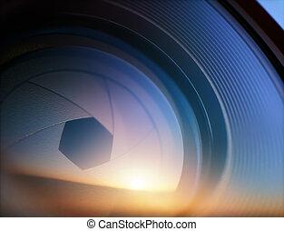 diaframma, macro, ottico, fotografia, lente