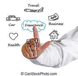 diagramma, assicurazione