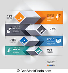 diagramma, astratto, infographics., 3d