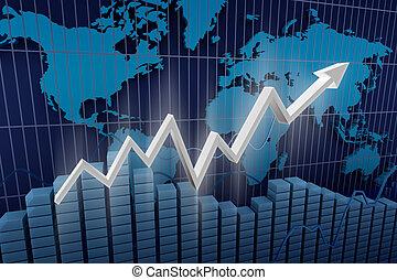 diagramma, business., fondo, reddito
