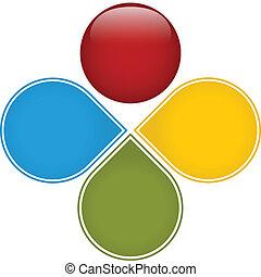 diagramma, colorito, affari, lucido