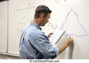 diagramma, -, educazione, elettrico, adulto