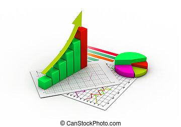 diagramma, grafico, sbarra, affari, grafico