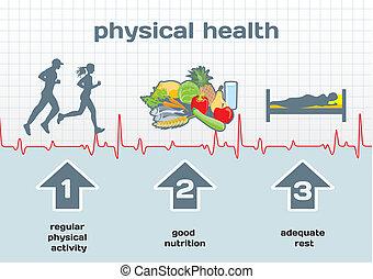 diagramma, salute, fisico