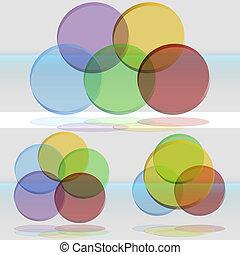 diagramma, venn, set, 3d
