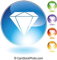 diamante, gioiello, icona, cristallo