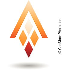 diamante, modellato, astratto, lettera, rettangoli, simbolo