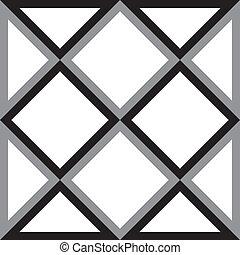 diamante, triangolo, astratto, quadrato, fondo, trydimensional, illusione