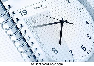 diario, orologio