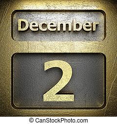 dicembre, 2, dorato, segno